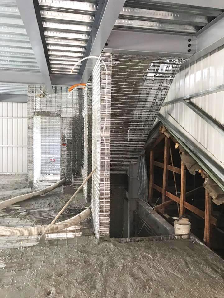 台灣楓康超市太平店 鋼網牆 速固牆 免拆模板