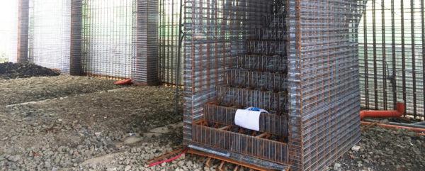 商辦新建工程 鋼網牆施工
