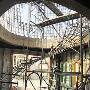 鋼骨結構 造型樓梯 圓形牆 圓形屋頂 封面 金昱勝鋼網牆-規劃.設計.施工.0972-346321