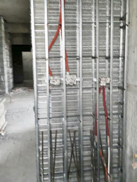 毛胚屋濕式隔間、工作孔填補(豐原)金昱勝SRC鋼網牆 (1)